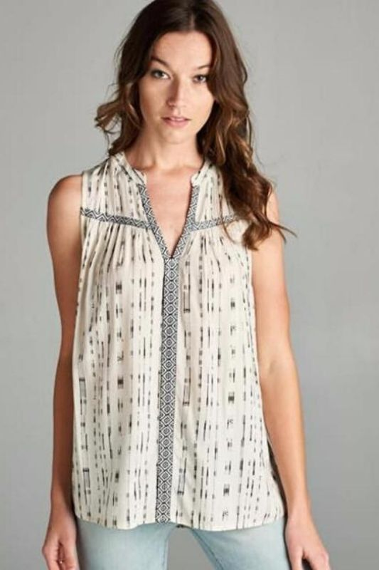 Staccato Light & Lively Sleeveless Top - Ivory