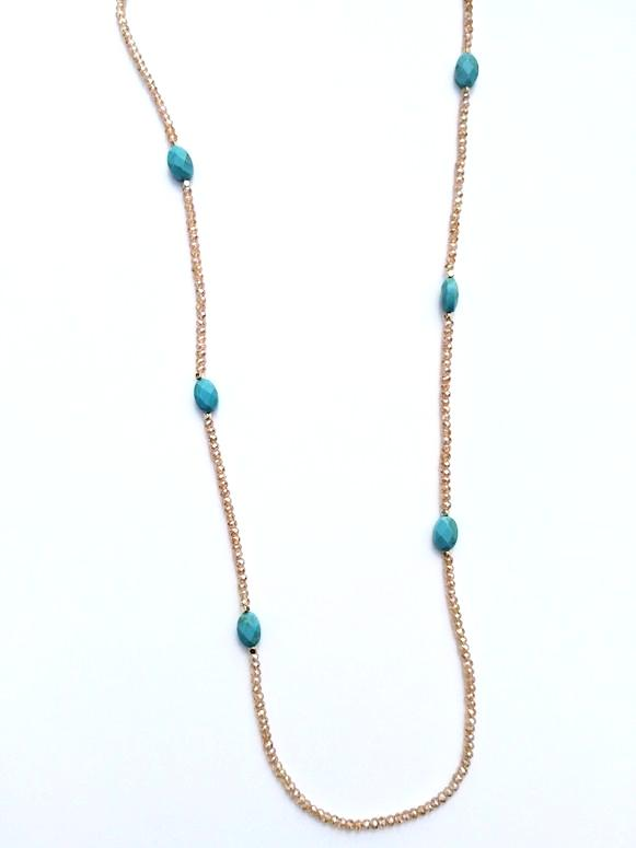 Turquoise Rose Gold Chic Necklace