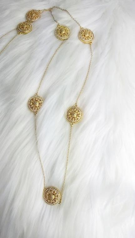 Gold Circles Chain Necklace