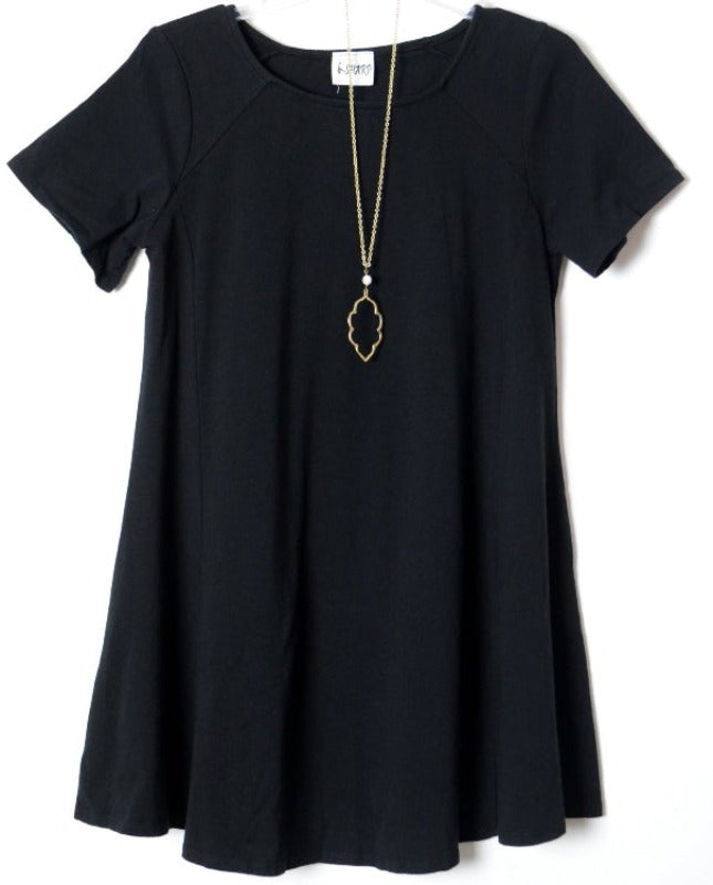 Pima Cotton Tunic Top - Pink Charcoal or Black