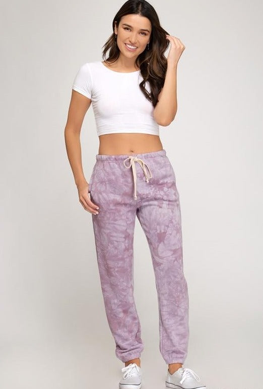 She + Sky Lounge Sweatpants - Misty Mauve