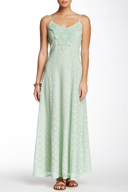 Flying Tomato Applique Lace Maxi - Mint