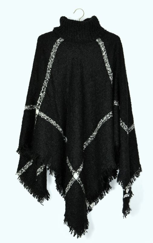 Ellie & Kate Poncho - Black