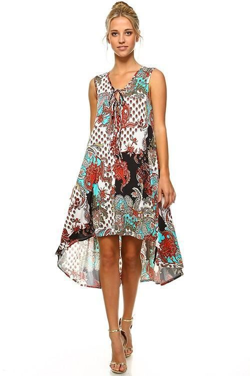 Sweet Promises Paisley Hi Lo Dress USA