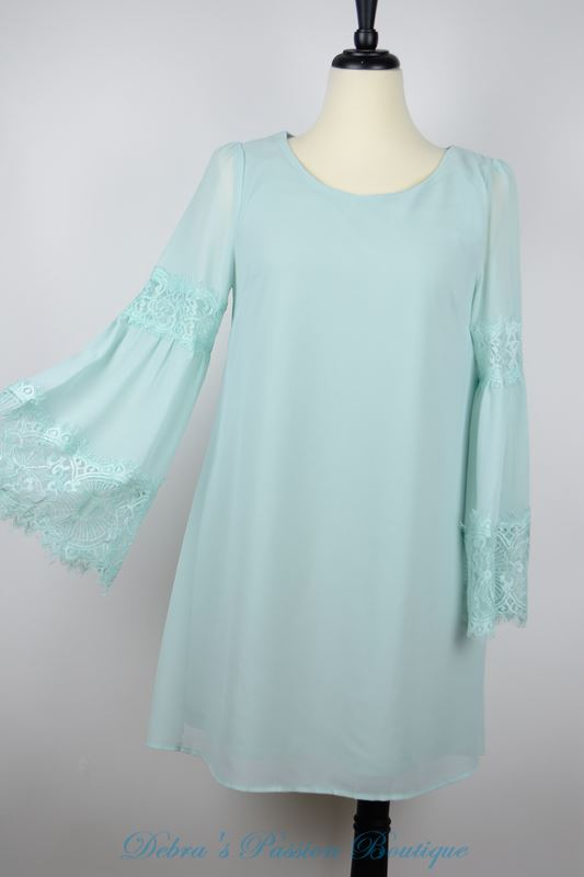 Entro Chiffon Shift Dress - Sage