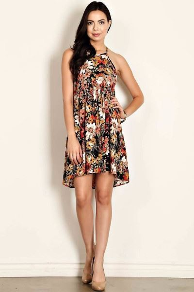 Super Daisy Floral Peasant Summer Dress