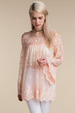 Angelic Embroidered Lace Off Shoulder Top - Peach or Cream