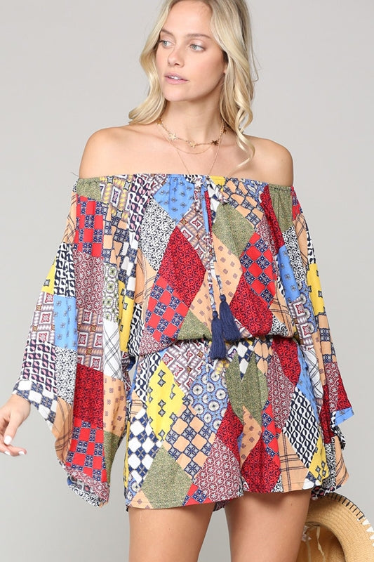 Sally T. Patchwork Romper