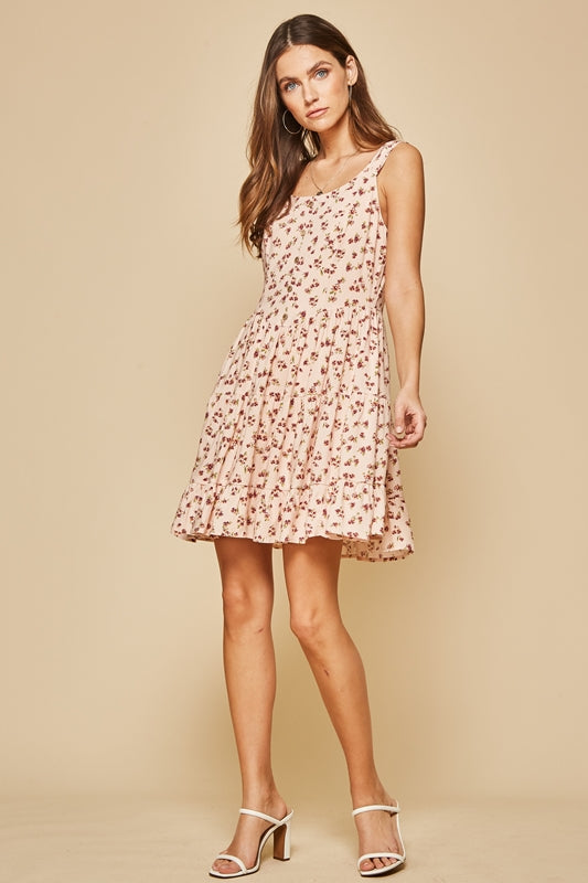 Floral Print Cutie Dress - Blush