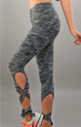 Skid Mark Yoga Dance Leggings Ankle Wrap