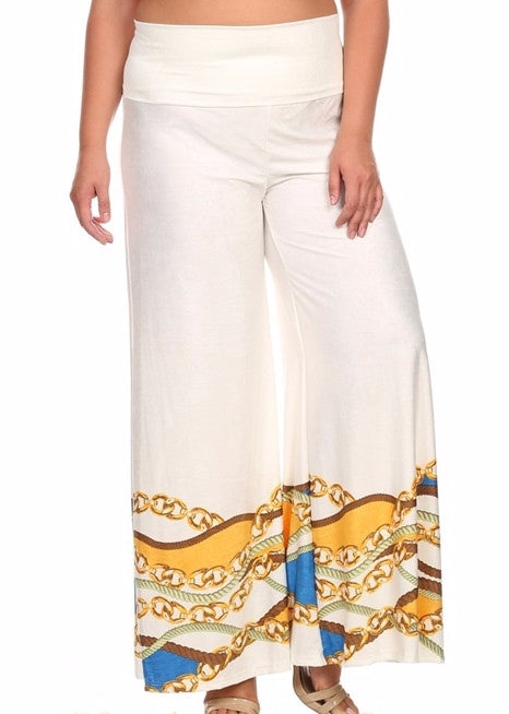 Canari Big Chains Border Plus Pants - Cream