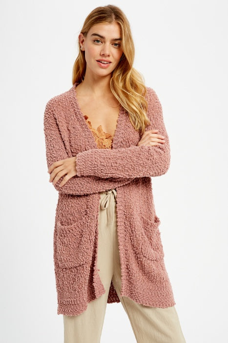 Chunky Popcorn Sweater  Cardigan - More Colors