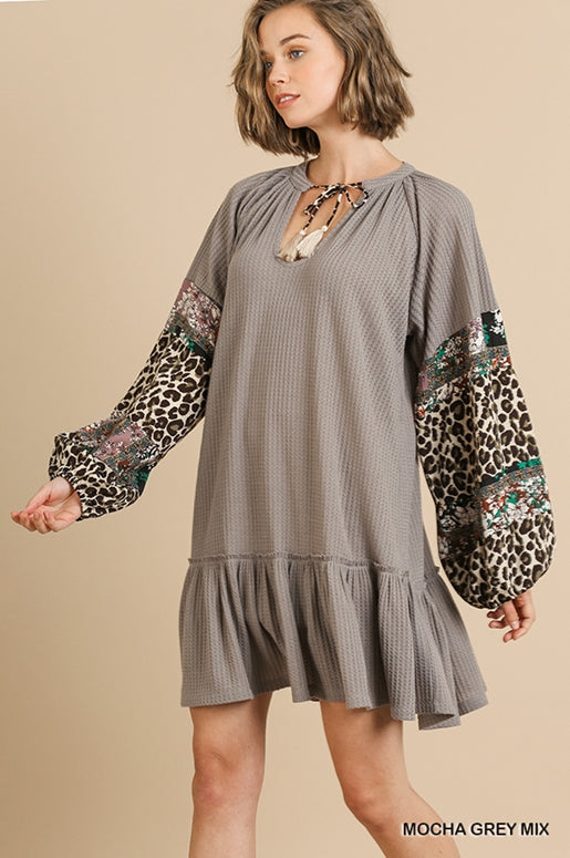 Giverny Dress - Mocha Grey Mix
