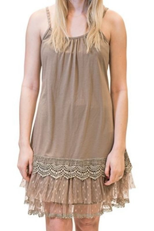 RYU Romantic Slip Dress Extender Cocoa
