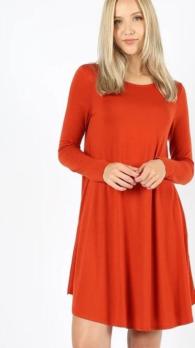 Falling Leaves Delight Dress - Copper