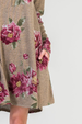 Bellamie Floral Sweater Dress - Mocha