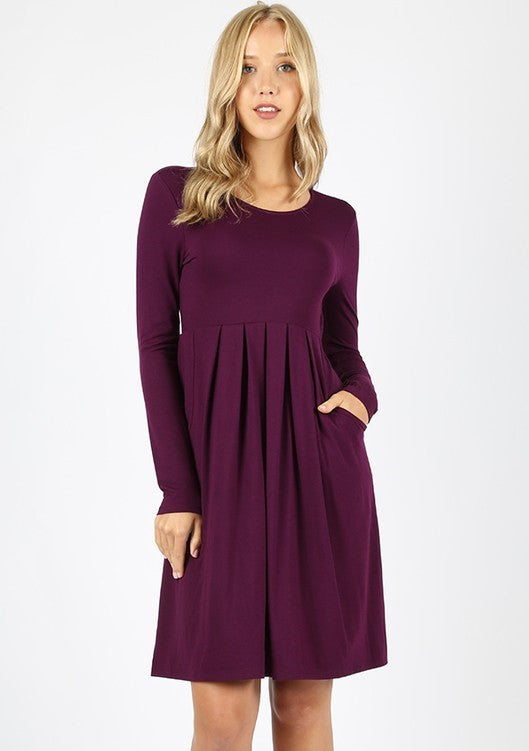 Serene Magical Winter Dress - Dark Plum