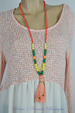 C.I.T.Y. Tassel & Beaded Necklace Set- Orange