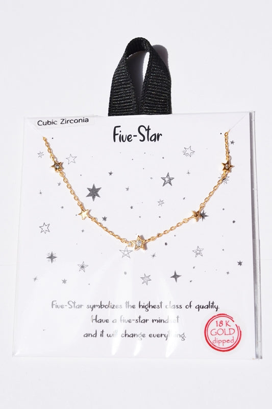 Five Star Charm Gift Necklace