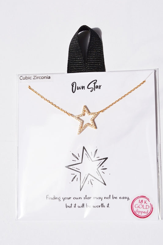 Own Star Charm Gift Necklace