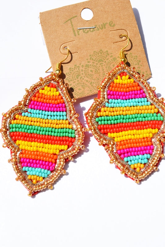 Beaded Multicolor Fiesta Earrings