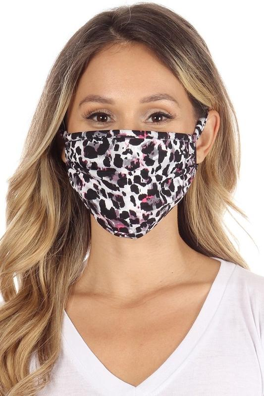 Black/Pink Leopard Mask