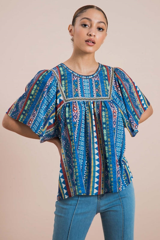 Sausalito Blouse - Blue