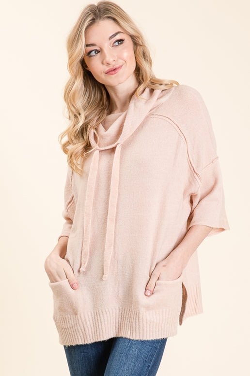Lime N Chili Pullover Pocket Top - Mauve