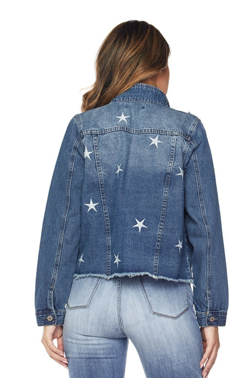 Starry Night Denim Jacket