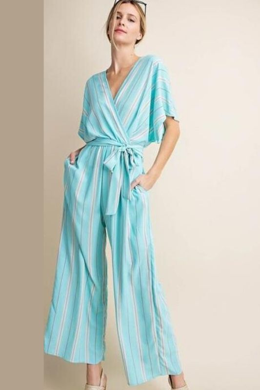 Kori Striped Casual Jumpsuit