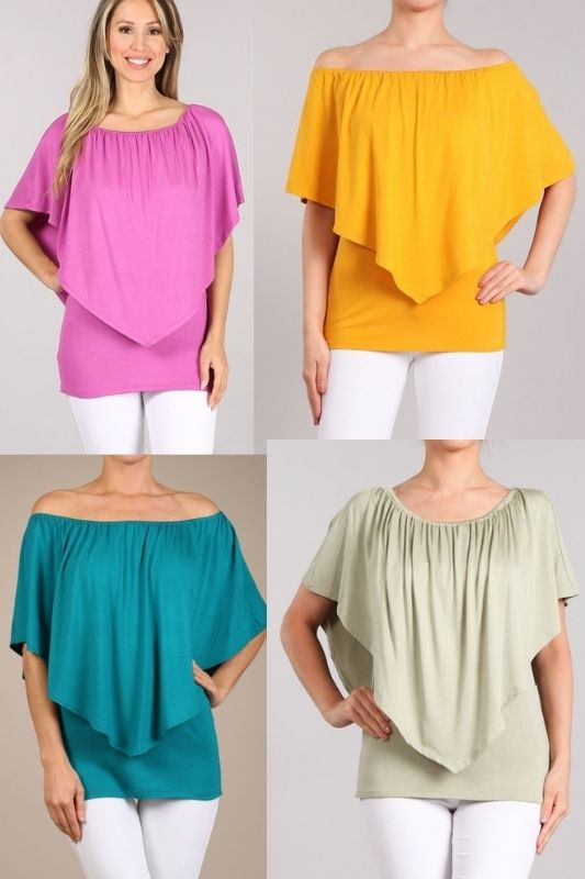 Chatoyant Layer Neckline Tops