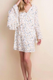L Love Wide Bell Sleeves Dress - Cream