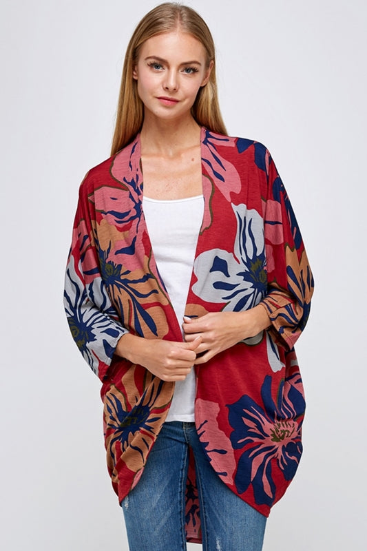 Lime N Chili Floral Cardigan - Multicolor