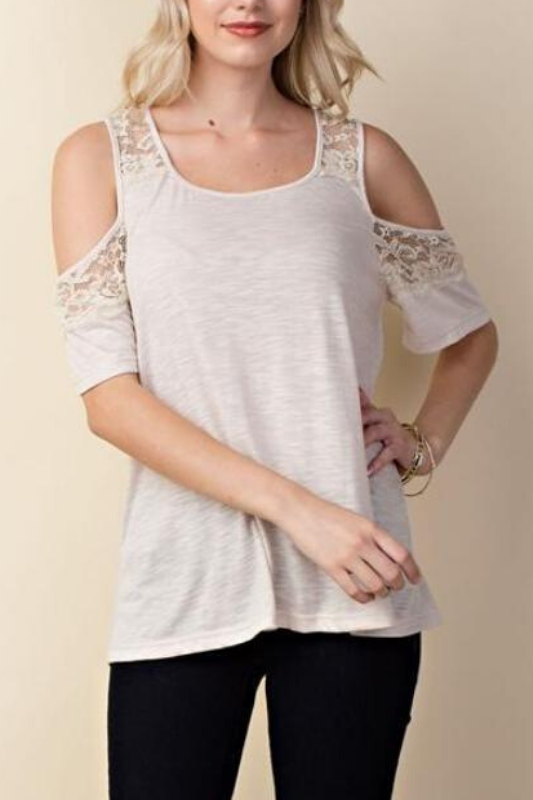 L Love Bianca Top - Sand