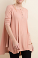 Just Chillin' LLove Swing Top - Dusty Pink