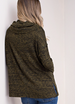 Kori Rib Knit Cowl Neck Top - Moss Green