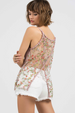 POL 3D Lace Flower Cami Top - Pink
