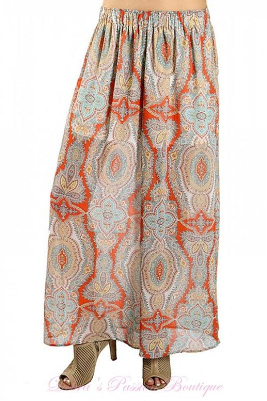 And'or Romantic Baggy Pants - Coral