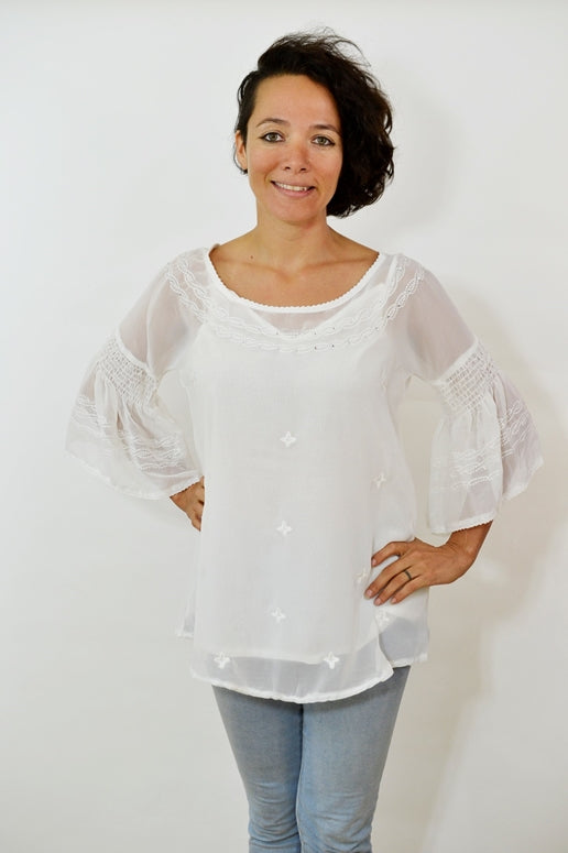 Urban Mango Blouse - Soft White