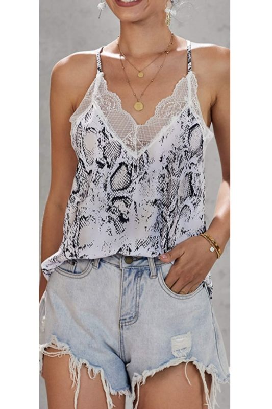 Python Snake Lace Accent Cami