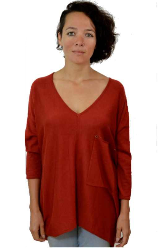 Kerisma Raven Sweater - Brick Red