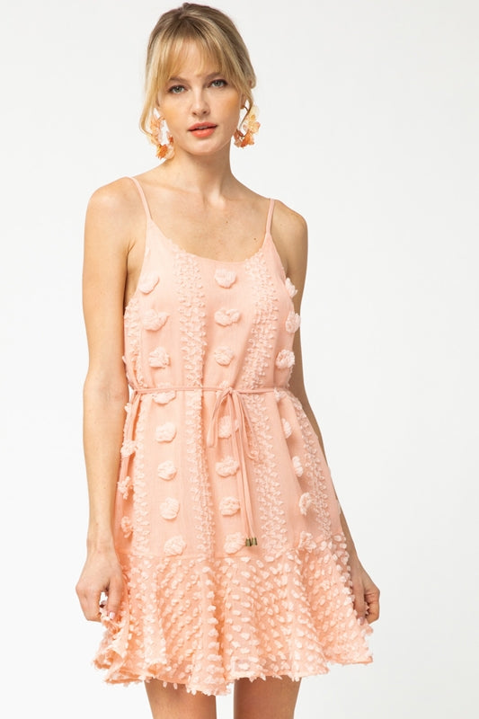 Entro Dottie Dress - Peach