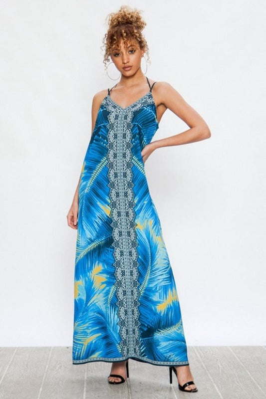 Jealous Tomato Maxi Dress - Blue Tropical