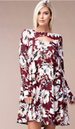 Eesome Floral Tall Dress - Burgundy