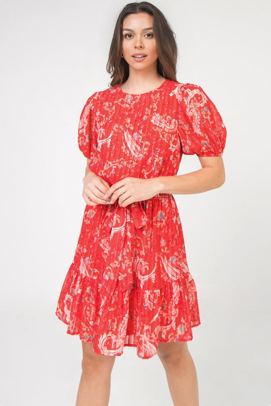 My Heart Is With You Dress - Red