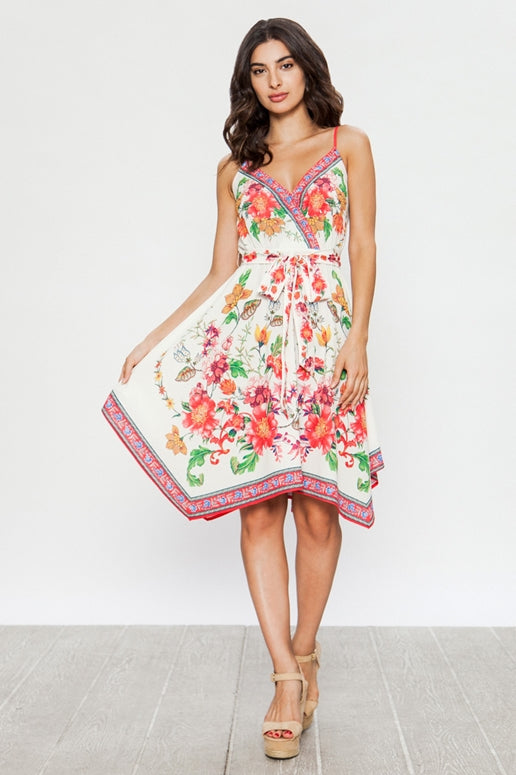 Flying Tomato Floral Print Dress - Ivory