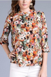 Le Lis Watercolor Impressions Floral Blouse