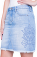 Liverpool Jeans Embroidered Denim Skirt