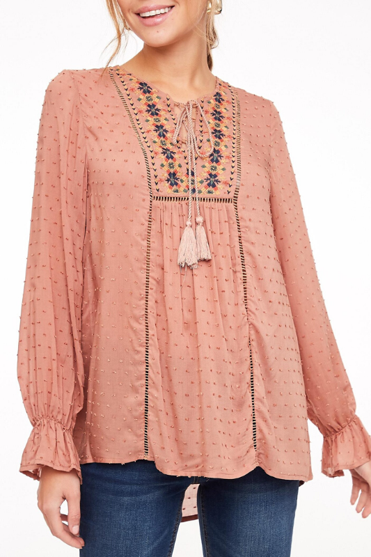LLove Cindy Top - Mauve