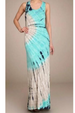 Chatoyant Racer Back Tie Dye Maxi Dress - Aqua/Sand